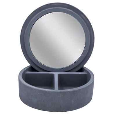 RIDDER Caja de Cosméticos con Espejo Cemento Gris Accesorios Cuarto Baño Hogar