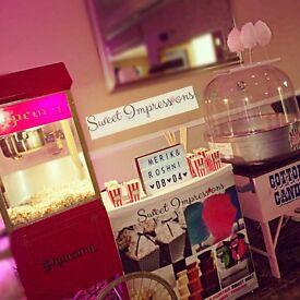 Chocolate Fountain, candy floss, photo booth, Candyfloss, popcorn machine hire, slush, Sweet pic mix
