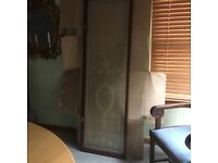 "Stunning original victorian etched glass doors by renowned cabinet maker ""Sage & Co London"