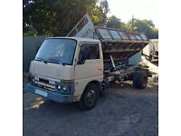 Left hand drive Nissan Cabstar FD35 3.5 Ton 6 tyres 3 way tipper. Steel body.