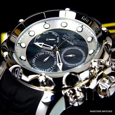 Invicta Venom Sea Dragon Gen II Black MOP High Polish Silver Tone 52mm Watch New