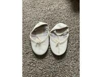 Infant size 8 white ballet shoes
