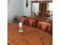 Dining Room Table,Chairs, Corner Unit and Sideboard