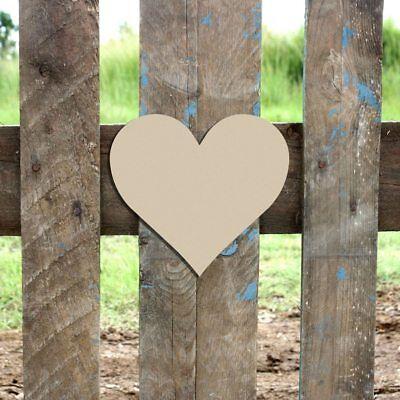 Wood Heart Shape, Unfinished Shape, MDF Wood Cutout, Wooden Paintable Craft