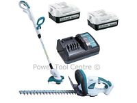 Makita 14.4V UH480DW & UR140DW Hedge Trimmer & Strimmer With Batteries & Charger