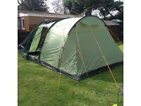 Vango 4 man tent plus various camping equipment