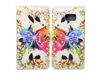 Rainbow Butterfly Flip Leather Wallet Case Cover For Samsung Galaxy Note 5 Edge