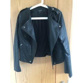 Topshop Black Leather Jacket