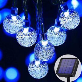 Solar Outdoor Garden Lights 23Ft 50LED -Blue