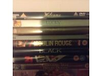 8 Film DVD set Moulin Rouge, Black, Welcome etc. - collection from West Hampstead high road NW6