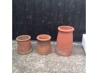 Different sizes, original chimney pots
