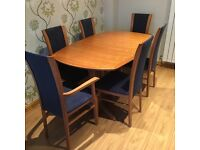 G-Plan Dining Room Table and 6 Chairs (£3,000 new)