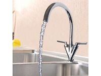 BRAND NEW BOXED - Dual Lever Kitchen Tap