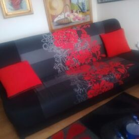 Bead sofa red and black