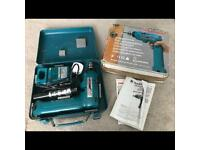 MAKITA 6093DW CORDLESS 9.6V DRIVER DRILL with Charger, metal box and instructions