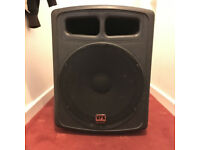 Studiomaster Active 15inch Subwoofer (needs minor repair!) VPX15 600W, great loud rounded bass sound