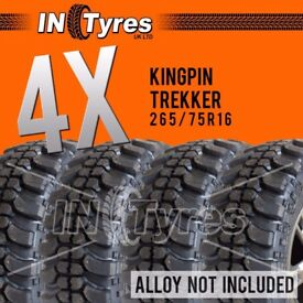 4x 265/75R16 Kingpin Trekker Tyres 265 75 16 Mud Terrain MT Like Insa Turbo x4