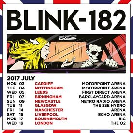 2 x Blink 182 standing tickets Manchester Arena Friday 14th July