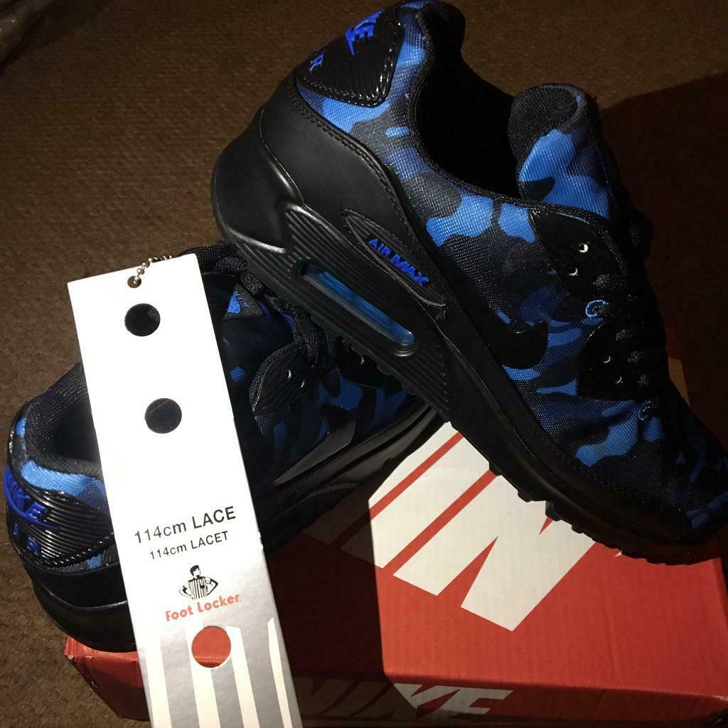 d029fc3e6ab1 SIZE 6 7 8 9 10 11 BRAND NEW NIKE AIRMAX 90 AIR MAX BOXED TRAINERS BLUE  (NOT) tn 95 110 adidas 97