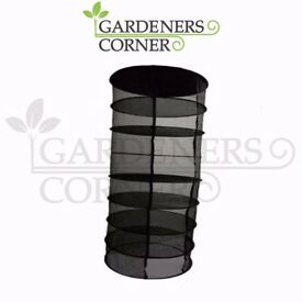 Hydroponic 8 Tier Hanging Growing Dry Rack Plant Drying Net Tent Carry Bag UK