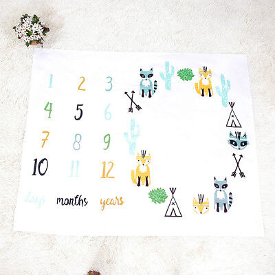 Newborn Baby Letter Milestone Blankets For Photography Rug Photos Props Mats
