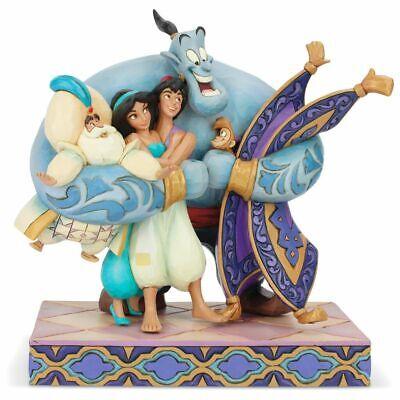 """New! Jim Shore Disney Aladdin Group Hug Figurine, 8"""""""