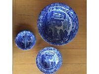 Blue Spode Italian design tableware