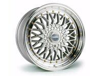 "*BBS* x4 17"" Dare RS Alloy Wheels SML Silver 5x120 7.5J Bmw 1 2 3 Series"