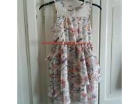GIRLS SUMMER FLOWER DRESS WITH BELT. AGE 8 YEARS