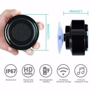 NEW BLUETOOTH WIRELESS 3.0 SHOWER SPEAKER WATERPROOF PHONE BSF012