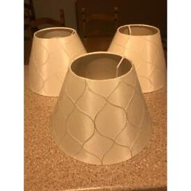 Light shades 3 matching excellent condition