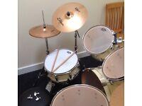 Pearl Vision drum kit in birch
