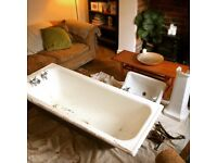 Great 1930s(?) cast iron bath with fab taps