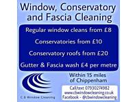 Window, Conservatory and gutter fascia washing