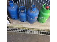 3xcalor1xflogas empty cylinders.