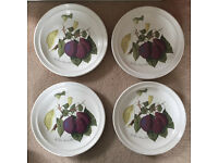 SET OF 4 PORTMEIRION POMONA THE REINE CLAUDE PLUM DINNER PLATES