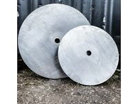 5kg - 25kg WEIGHT PLATES - ANY SIZE HOLE - PURE BRITISH STEEL - IN STOCK NOW!