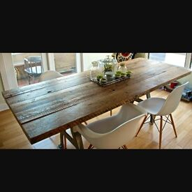 Reclaimed timber tables