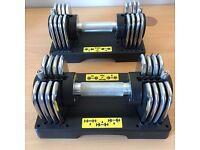 Gold's Gym 2 x 10kg Adjustable Transformer Dumbells