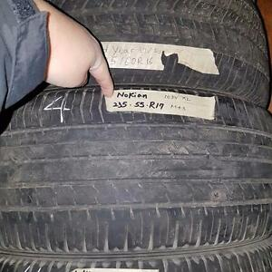 Set of four 235 55 17 tires for sale
