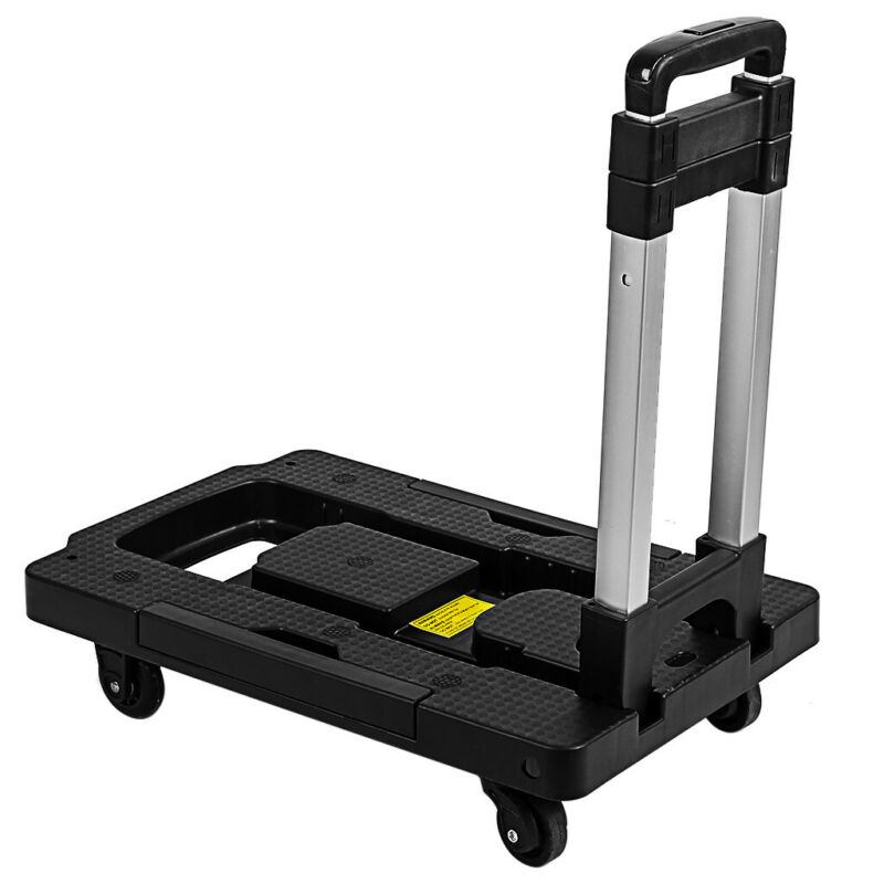 330lbs Platform Cart Dolly Folding Moving Luggage Cart Hand