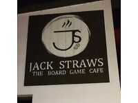 Jack Straws the Board Game Cafe is looking for a manager