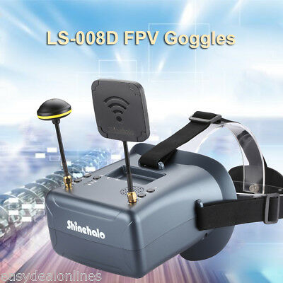 Ls 008D Dvr Diversity Fpv Goggles 5 8G 40Ch 2000Ma Built In Battery For Rc Model