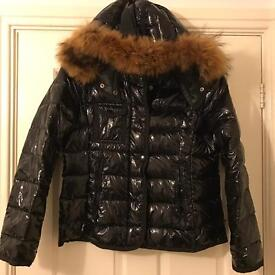 Real Fur Racoon Collar Fur Coat Duck Goose Down Moncler canada goose size 10-14