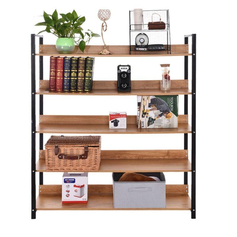 Bookshelf Rack 3/5 Tier Bookcase Shelf Storage Organizer Woo