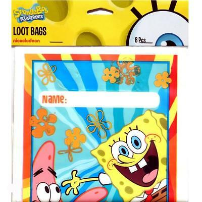 Sponge Bob Square Pants Buddies Treat Loot Bags 8 Count Birthday Party Supplies Buddies Treat Bags