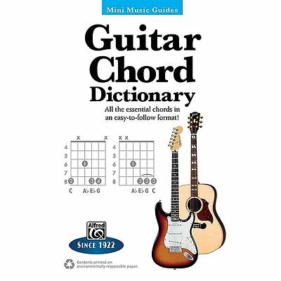 Alfred Guitar Chord Dictionary Mini Music Guides Book ,33501 Chord Dictionary Music Book