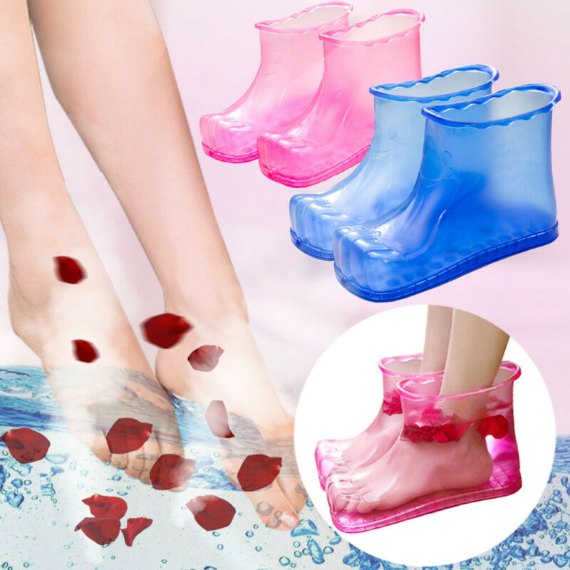 1/2 Pair  Foot Bath Massage Boots Relaxation Slipper Shoes F