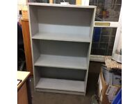 Used bookcase in grey woodgrain effect with 3 shelves
