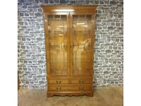 Beautiful Traditional Tall Display Cabinet